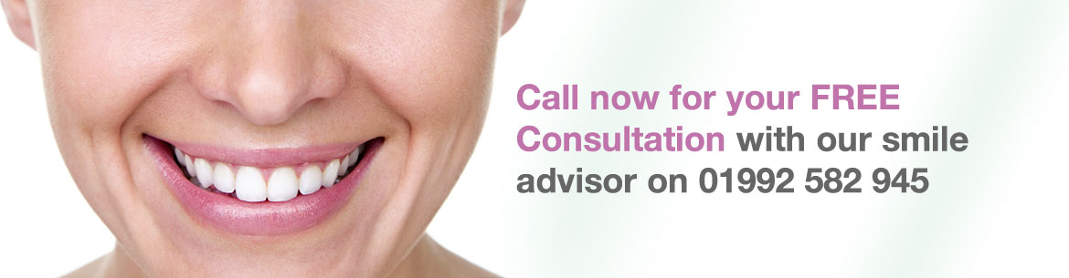 Call now for your FREE Consultation with our smile advisor on 01992 582 945